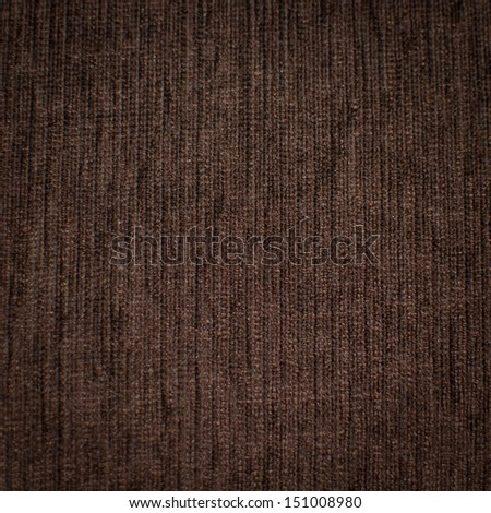 The surface of the beautiful brown fabric