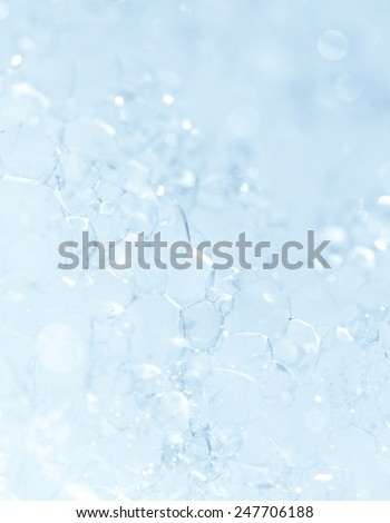 The surface of the bubble - macro photo - stock photo