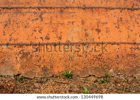 The surface of the steel to rust. - stock photo