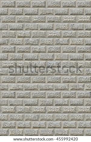 The surface of the symmetrical white brick, seamless texture - stock photo