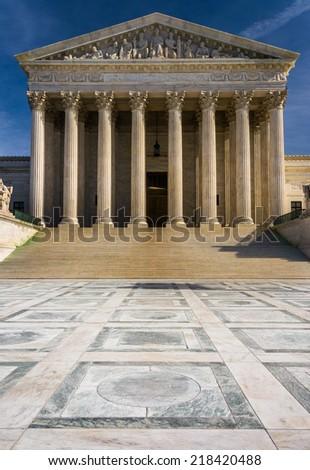 The Surpreme Court Building, in Washington, DC. - stock photo