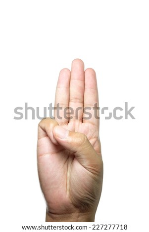 the swear symbol with my hand . - stock photo