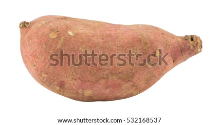 The sweet Potato on a white background.clipping path.