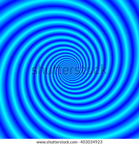 The Swirling Blues / An abstract fractal image with a spiral design in shades of blue.
