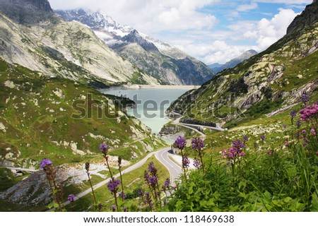 The Swiss Alps - stock photo