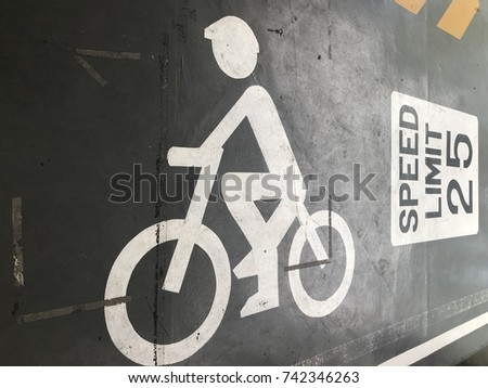 Symbol Bike Solid White Line On Stock Photo 742346263 Shutterstock