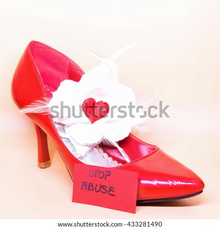 Symbol Violence Against Women Stock Photo Royalty Free 433281490
