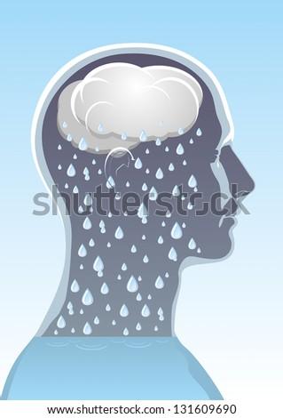 The symbolic image of mental health - stock photo