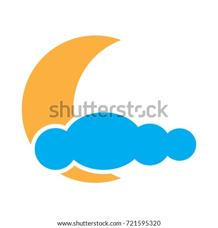 Symbols Moon Clouds Stock Illustration 721595320 Shutterstock