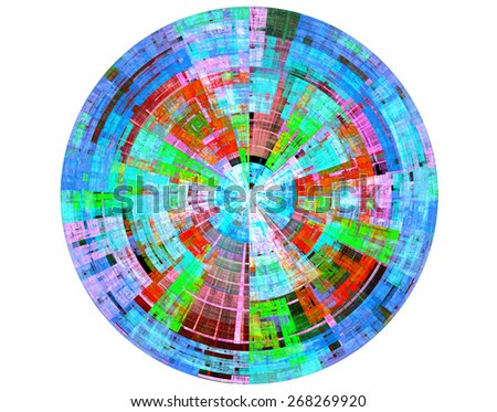 The symmetric and original image as a flower generated by the computer program. I store at myself in archive an initial file with the alpha - channel. - stock photo