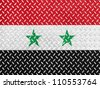 The Syria flag painted on metal floor - stock photo