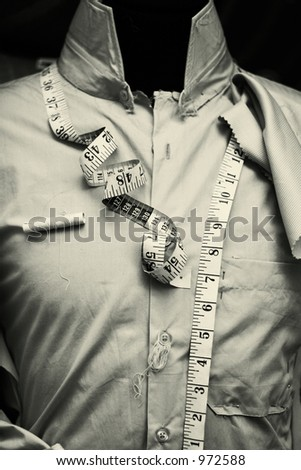 The Tailor - Black and White version - noise - stock photo