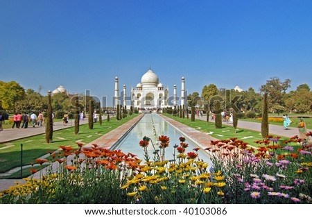 The Taj Mahal a mounument of love and sorrow, Agra India.