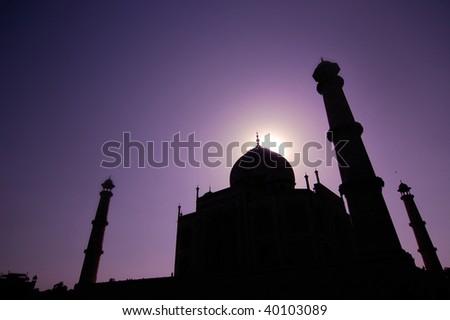 The Taj Mahal a mounument of love and sorrow, Agra India. - stock photo