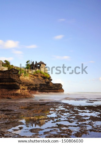 The Tanah Lot Temple, the most important Hindu temple of Bali, Indonesia. - stock photo