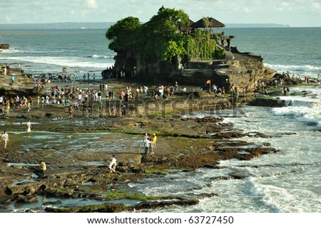 The Tanah Lot Temple, the most important indu temple of Bali, Indonesia.