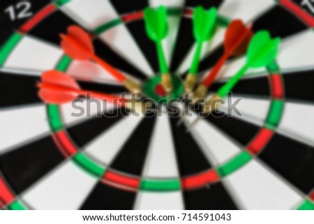 The target for darts and darts blurred abstract background