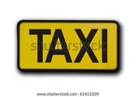 The taxi sigh label isolated - stock photo