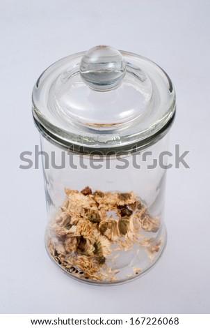 The tea glass jar - stock photo