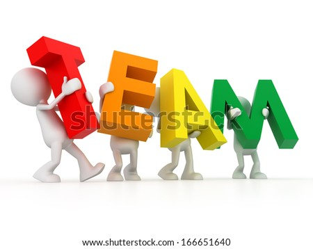 The team word - stock photo
