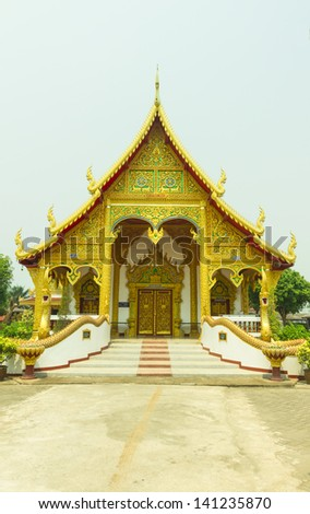 The temple design with Lanna style, Thailand.