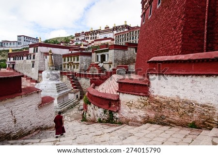 The temple in Tibet - stock photo