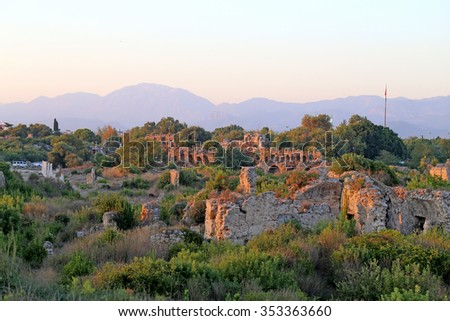 The temple of Apollo in Turkey in siti  Side