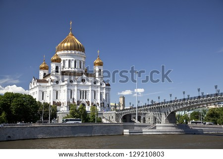 The temple of Christ the Savior in Moscow