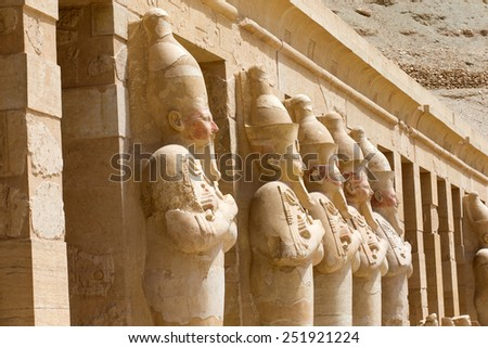 The temple of Hatshepsut near Luxor in Egypt - stock photo