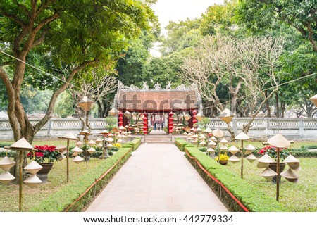 The Temple of Literature in Hanoi, Vietnam.
