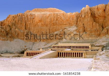 The Temple of Queen Hatshepsut near Luxor in Egypt - stock photo