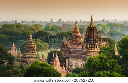The  Temples of Bagan(Pagan), Mandalay, Myanmar - stock photo