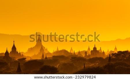 The  Temples of , Bagan(Pagan), Mandalay, Myanmar - stock photo