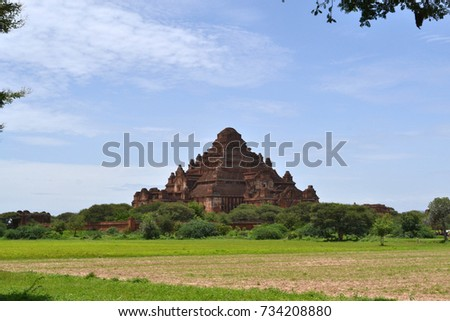 The temples that scattered around Bagan Archaeological Zone, Myanmar. It's a UNESCO world heritage. Pic was taken in August 2015.