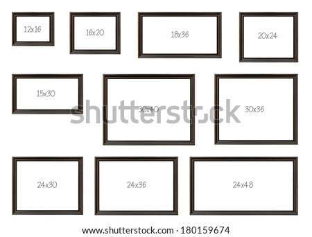 stock images similar to id 13034107 photo frames isolated on white. Black Bedroom Furniture Sets. Home Design Ideas