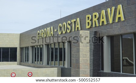 The Terminal of Girona Costa Brava airport - GIRONA / SPAIN - OCTOBER 6, 2016