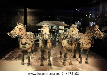 The Terracotta Army of Xian in China, 2014 August 25