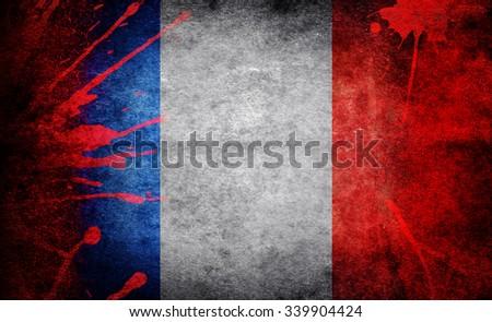 The terrorist attack in Paris - stock photo
