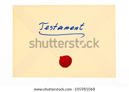 the testament of a deceased person in german. last will and inheritance - stock photo