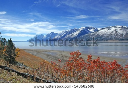 The Teton Range, American Rockies, Wyoming, USA