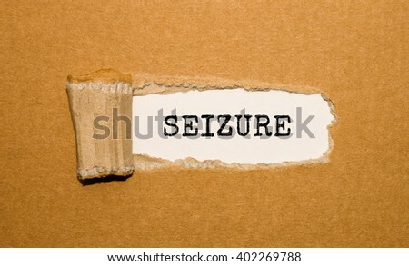 The text Seizure appearing behind torn brown paper - stock photo