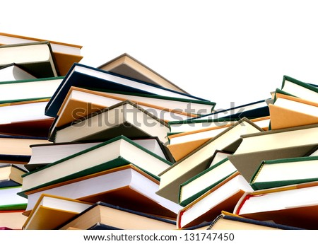 the textbook towers background - stock photo