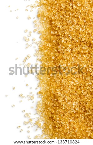 the texture of brown sugar - stock photo