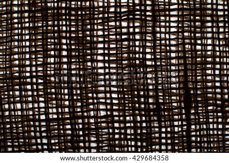 The texture of coarse cloth. The fabric on white background. Sackcloth to the lumen. Eco fabric. Natural fabric. The folds of the fabric. Background. - stock photo