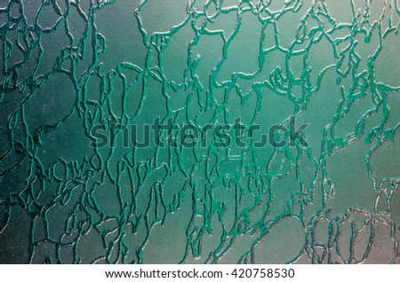The texture of corrugated glass.