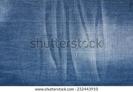 The texture of denim - stock photo