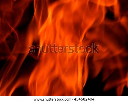 The texture of fire on a black background