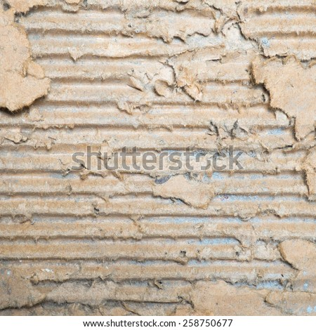 The texture of the old grunge corrugated cardboard useful as a background
