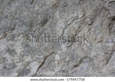 The texture of the rocks