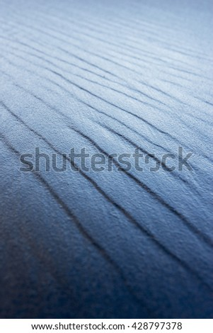 The texture of the sand. Sand in the wild nature - stock photo